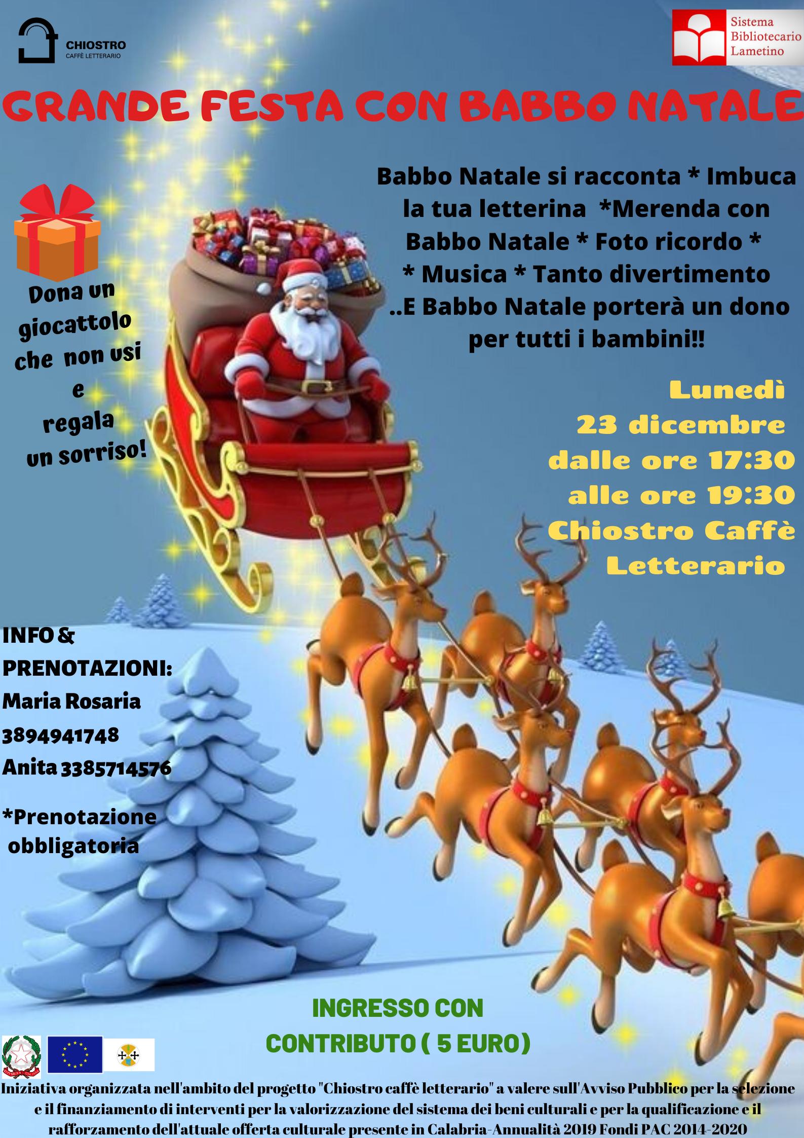 Grande festa con Babbo Natale!